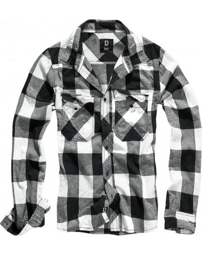 Koszula Brandit Checkshirt white/black